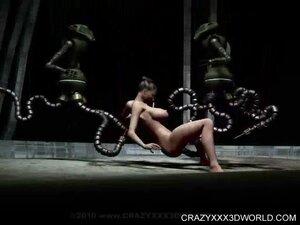 Bizarre robot sex for stacked slut