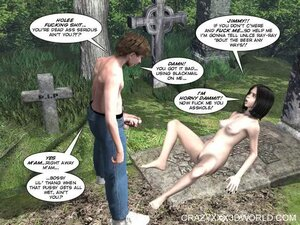 Shocking sex in the cemetery