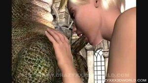 Fairy sucks big dragon dick