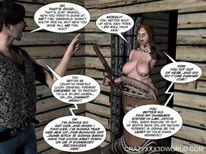 Naked slut in the saddle