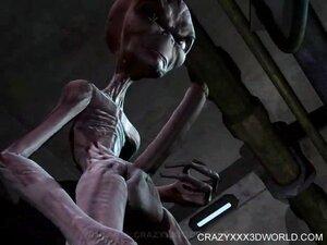 Hung alien dicks blonde's mouth