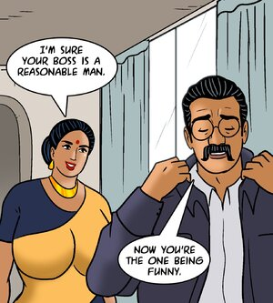 Indian couple discusses the man's boss