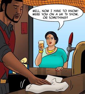 Handsome bartender intrigues Indian MILF