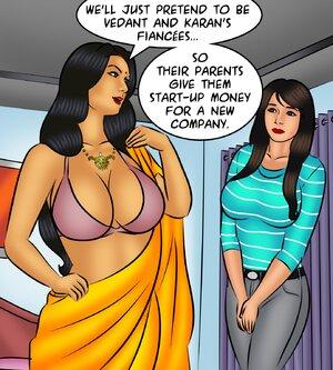 Voluptuous Indian wife tries on a sari