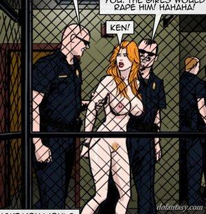 Naked lass hauled police