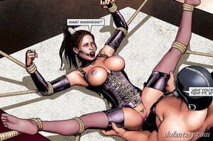 Cruel males screw bound