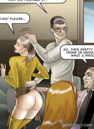 Men spank hot slaves