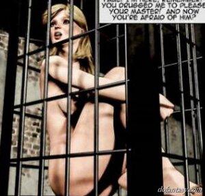 Hot slaves caged ogled