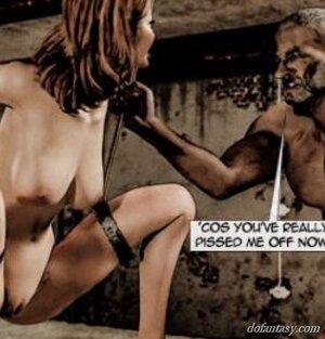 Slave mouths suspension bondage