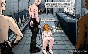 Slave clean nasty toilet