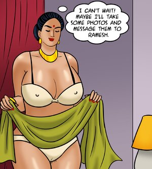 Chesty Indian wife tries on fancy lingerie