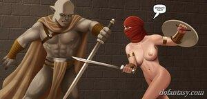 Brute elf battle naked