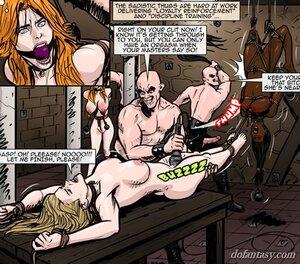 Gorgeous gals endure flogging