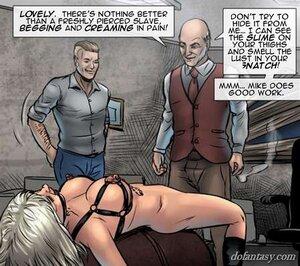 Restrained big tits blonde