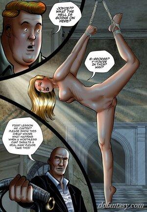 Big tits blonde tied