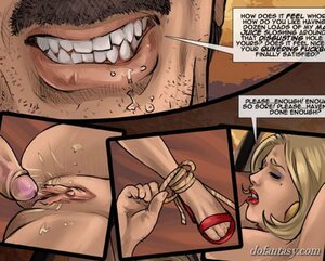 Helpless busty blonde slave