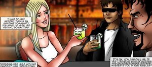Cute blonde invited drink