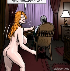 Busty ginger slave explores