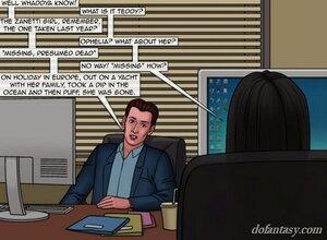 Long-haired brunette detective information