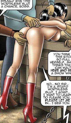 Tied nude drawn slave