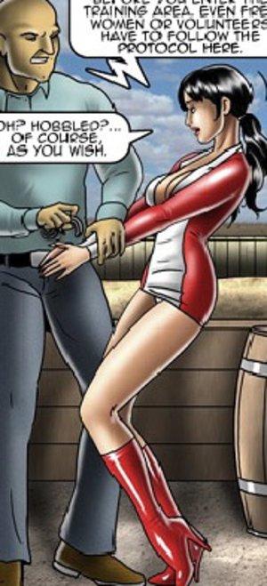 Perverted toon master torturing