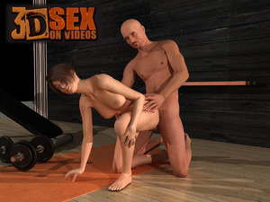Bald dude undressing fucking